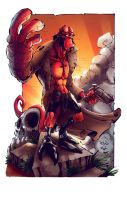 Hellboy by Edufrancisco_Colors by kcspaghetti