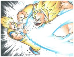 Goku Vs Broly C2E2 commission by SirDeLundo
