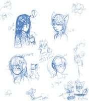 original character sketches by Stais