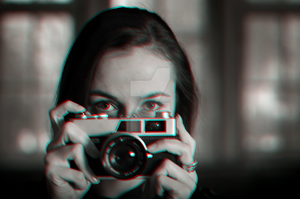Photographer Steroscopic 3D Anaglyph. by DeviantGrace