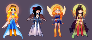 CUTE FASHION ANGELS ADOPTS AUCTION CLOSED by miotess-adopts