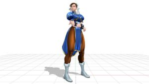 chun li model mmd tets by aittel