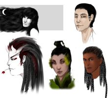 studying draw humans heads set by Lizzzard