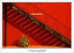 Stairs, shadow, red wall by SpiralOut1123211
