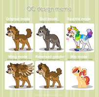 OC Design Meme by Blixemi