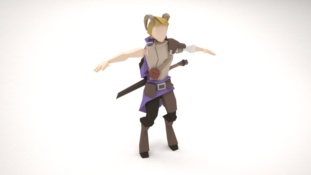 Low Poly Character - Curand Ethinor (WIP) by MacLellan