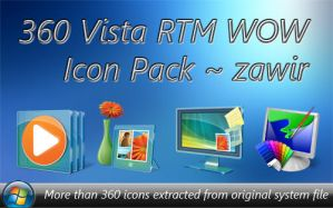 Vista RTM WOW Icon Pack by zawir Iconos para Windows XP