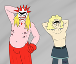 Shirtless Showoffs by Katzy