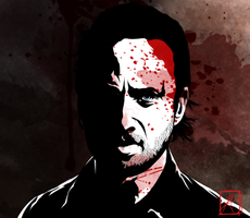 Rick Grimes - Shit Happens by InvisibleRainArt