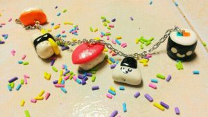Sushi Bracelet :D by love-dolly