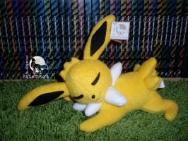 Jolteon Sleeping plush by WolfPink