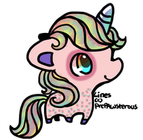 Cotton Candy Unicorn [Commission ] by viexii