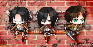 Attack on Titan Chibi Set by GenIshihara