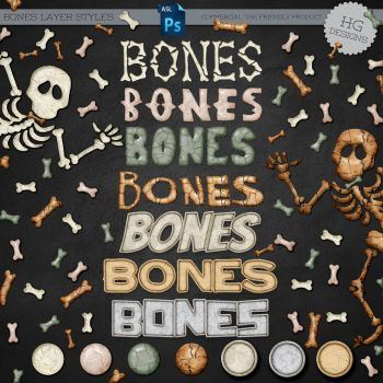 Layer Styles: Bones by HGGraphicDesigns