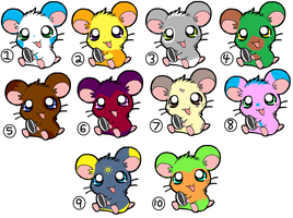 CLOSED: hamster adoptables by ninachu713