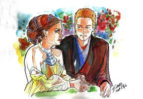 Anakin and padme on Naboo by bulma24