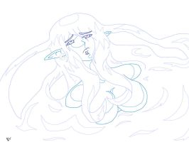 dying water spryte (before color) by rivetborn