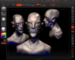 another demon head  WIP by dhavid-arts