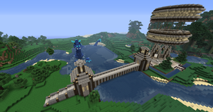 Minecraft: Spawn area by 1beastfrommiddleeast