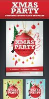 Xmas Party Flyer Template by saltshaker911