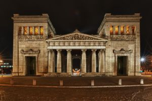 Munich - Koenigsplatz at night by benmoll