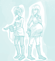 LESBIAN SCIENCE BABIES: IN SPACE by BellaCielo