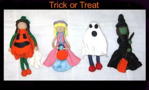 trick or treaters- clay by ProtectorKorii