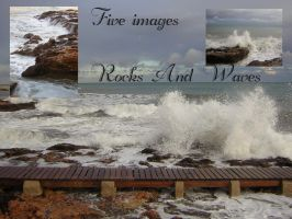 Rocks and Waves by Adaae-stock