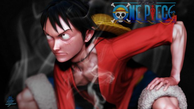 One Piece Monkey.D.Luffy 3D Fan Art Sculpt by Veus-T