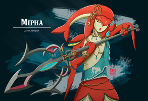 Zora Champion Mipha by yishn