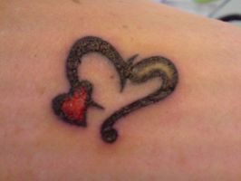 Two hearts tattoo by Tristana-Gray