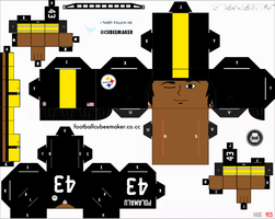 Troy Polamalu Steelers Cubee by etchings13