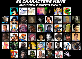 My 50 Character meme by AvoidSpiltJuice