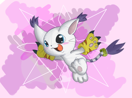 Gatomon/Tailmon by hikariviny