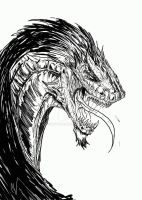 Dragon Sketch by Schwoodz
