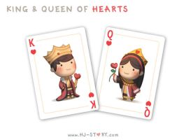 King and Queen of Hearts by hjstory
