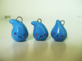 Polymer Clay Raindrops by Number1FMAfangirl