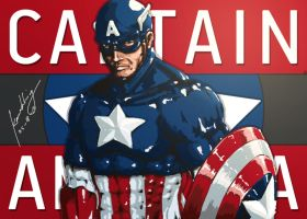 Captain America Redraw by Kanukling