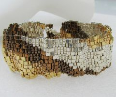 Corrugated Mixed Metal Ribbon by SandFibers