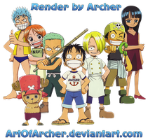 Mugiwara's Kids Render by ArtOfArcher