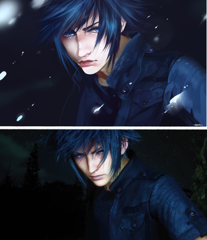 [FFXV] - Screencap Redraw by teaventure