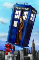 A Spider in the Tardis by lcannizzaro