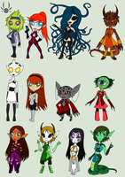 Buncha Space babes by ThexStarxDestroyer