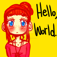 Hello world. by TacWithAPencil
