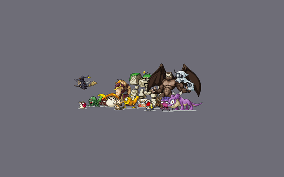 Maple Story Monsters Wallpaper by PlaidTurtle