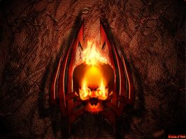 Burning scull - total remake by alchem