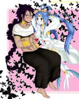 Gajeel x Levy cosplaying by PastrieCake