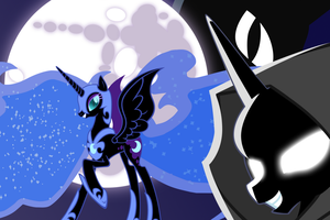 Nightmare Moon Wallpaper by Luuandherdraws