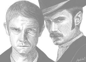 John and Watson by Shamanmy