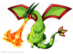Flygon use DragonBreath by BlackRayser